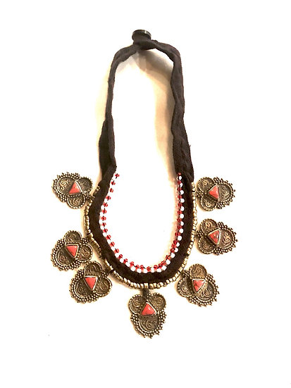 Kuchi Necklace with Small Medallions - TKN208