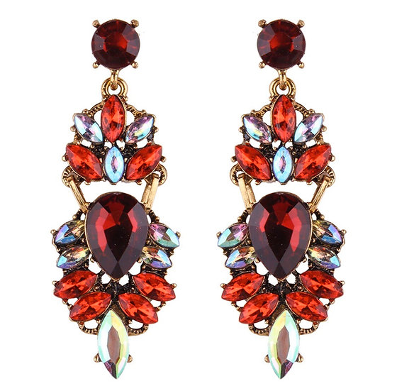 Costume Earrings with Crystals - EAR202