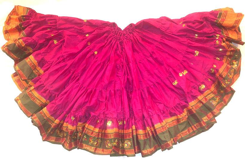 25 Yard Saree Sari Skirt - Fuchsia - TSES100