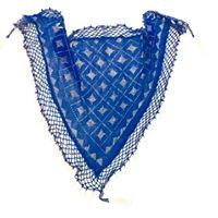 Blue Assuit Scarf with Beaded Fringe - BASF606