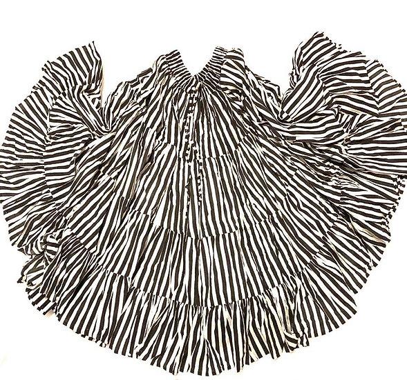 Black and White Stripe Skirt - 25 yards - TS1004