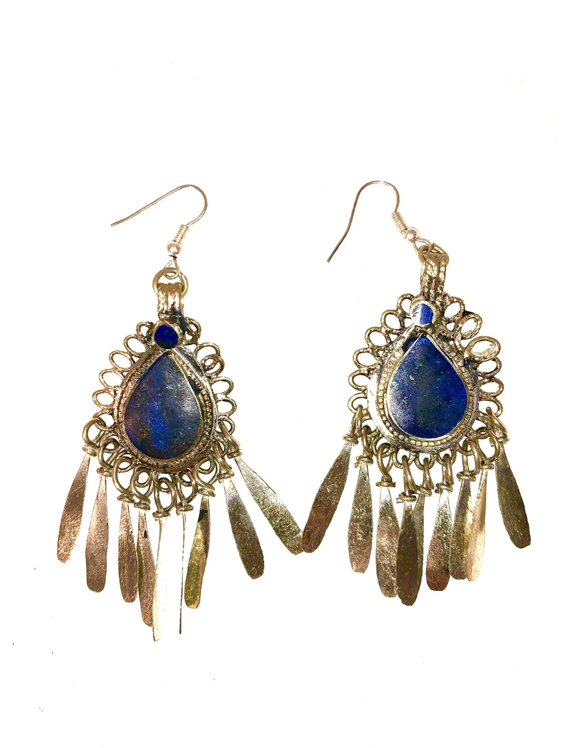 Lapis Earrings with Dangles - EAR101