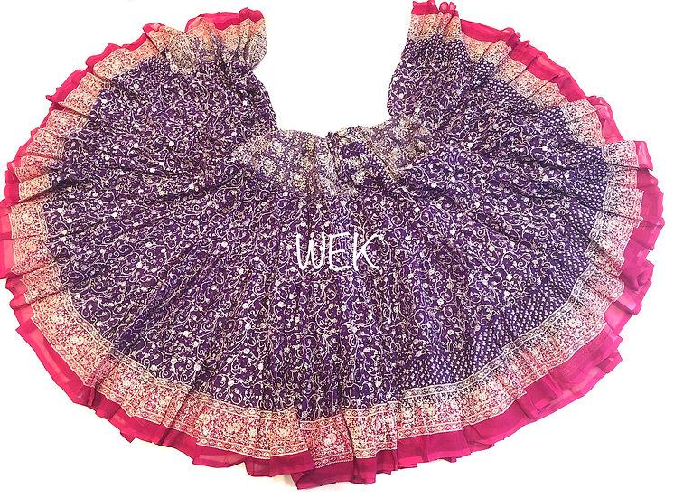 25 Yard Special Saree Sari Skirt - Purple - TSCS703