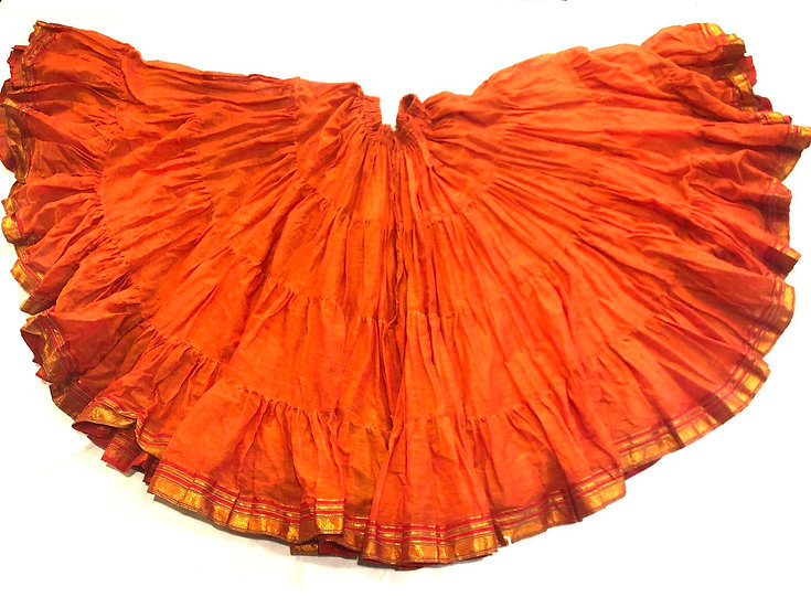 25 Yard Saree Sari Skirt - Saffron - TSCS30