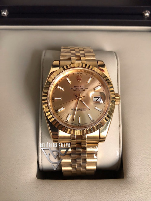 R. DATEJUST GOLD FEMININO
