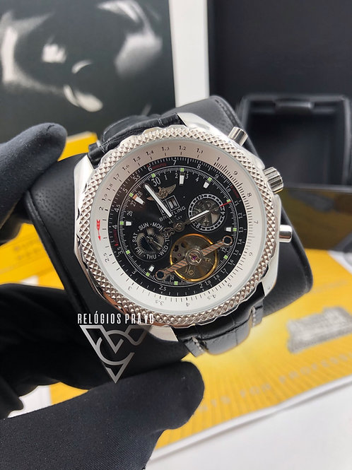 KIT BREITLING BENTLEY BLACK+ CAIXA E MANUAIS