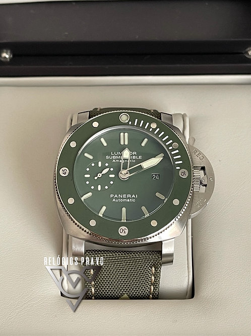 PANERAI LUMINOR SUBMERSIBLE AMAGNETIC VERDE