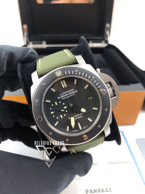 KIT PANERAI SUBMERSIBLE AMAGNETIC + CAIXA COM MANUAIS