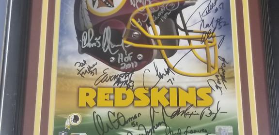 Signed Redskins Logo 11x14