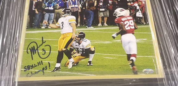 Jeff Reed Super Bowl 43 8x10