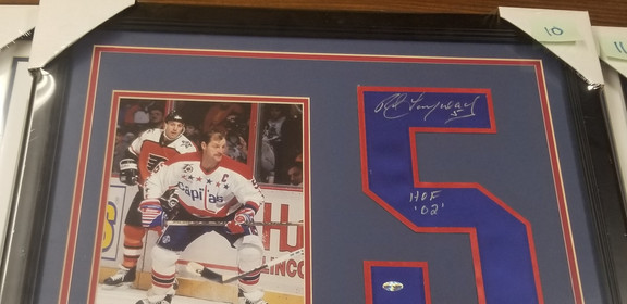 Signed Rod Langway Jersey & Photo