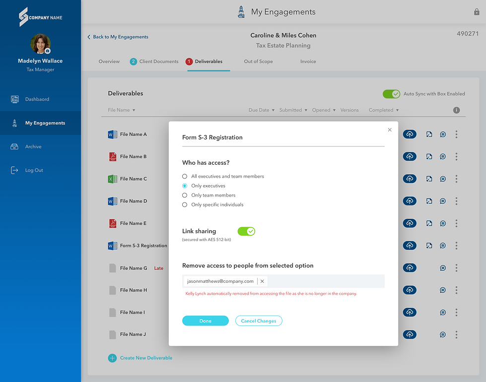 Client Engagement Center - Manager View