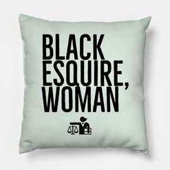 Black Esquire, Woman Pillow