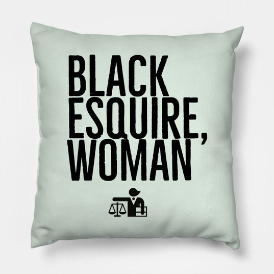 Black Esquire, Woman Pillow