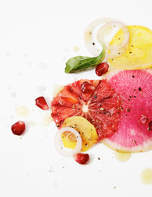 blood orange, beet, radish salad