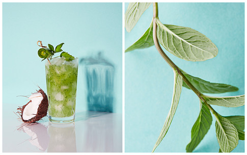 mint cucumber coconut water refresher
