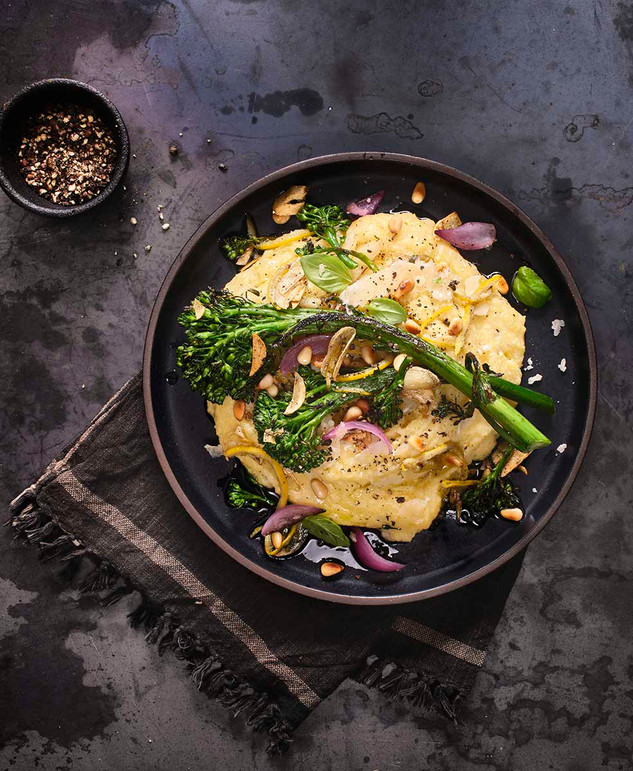 Polenta with Broccolini