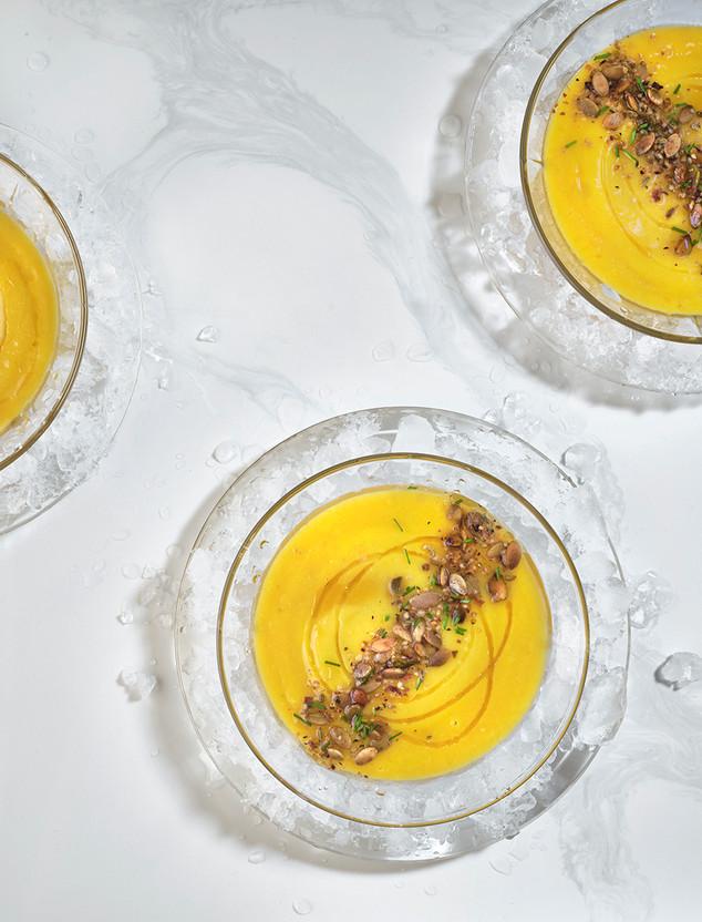 Yellow Tomato Mango Gazpacho