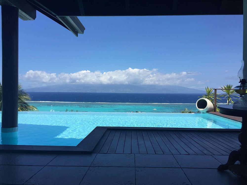 la piscine prête a accueillir les clients