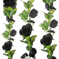 Black Silk Rose Garland