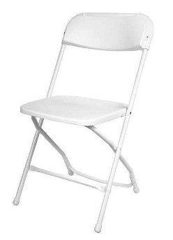Adult White Folding Chairs