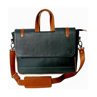 MÉNAGE's 'The Obrero' Green Laptop Bag
