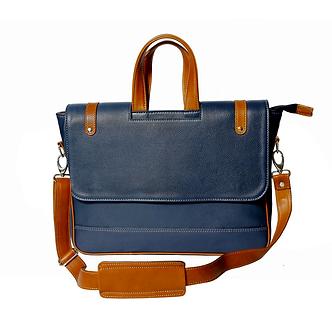 MÉNAGE's 'The Obrero' Blue Laptop Bag