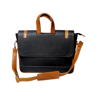 MÉNAGE's 'The Obrero' Black Laptop Bag