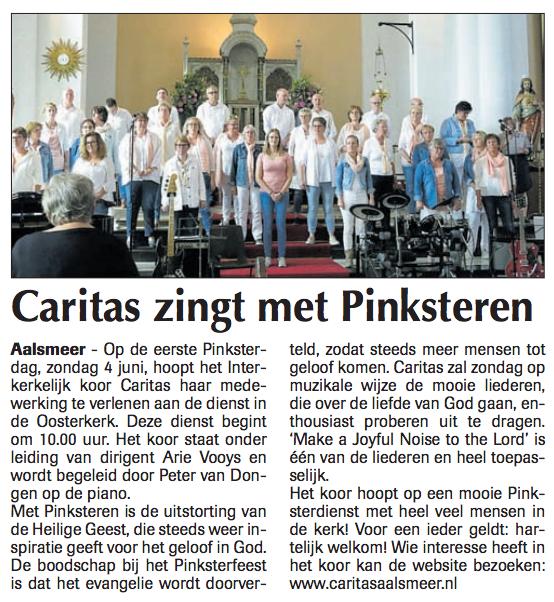 Caritas-zingt-pinksteren