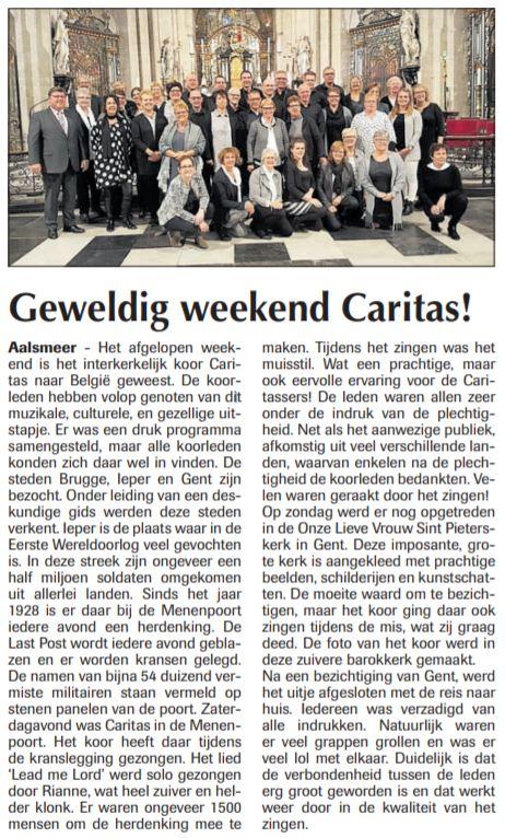 Weekend Caritas