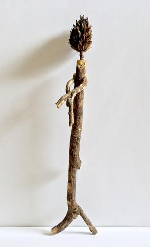 Dancing Crossed Arms (magnolia bud head tree stick figure)