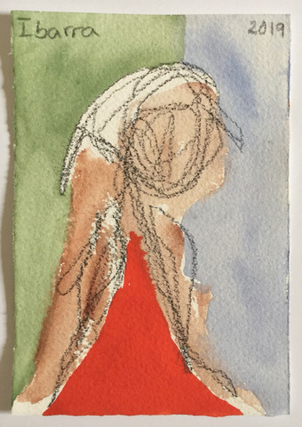 Figure with Red Dress
