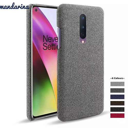 Slim Cloth Texture Fitted Cover for One plus 5 5T 6 6T 7 7T pro
