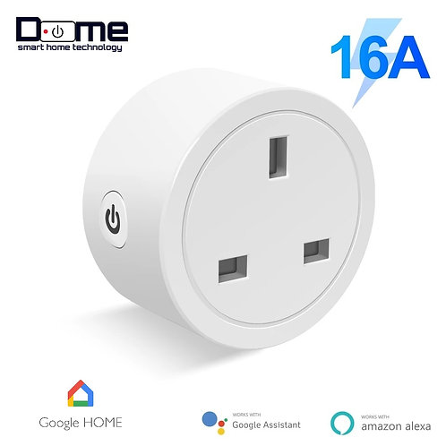 Dome Smart WiFi Plug 16A UK work with Google Assistant