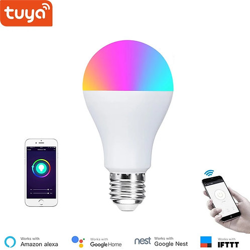 Alexa compatible WiFI smart bulb RGB dimmer E27 bulb