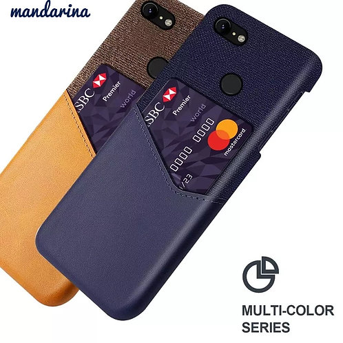 For Google Pixel Series Case Leather and Soft Fabric Cloth Splicing Shockproof