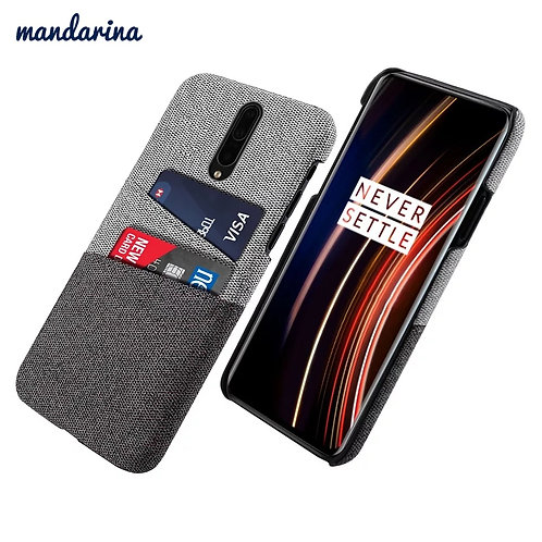 For OnePlus 7T 7T Pro Case Slim Back Hard PC Fabric Protective Cloth Cover