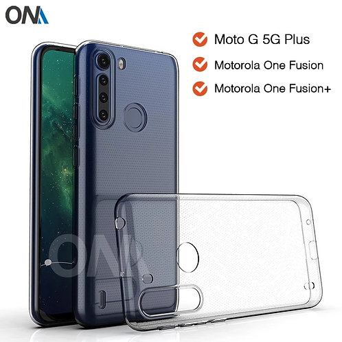 Case For Motorola One Fusion Plus TPU Silicon Clear Fitted Bumper Soft Case