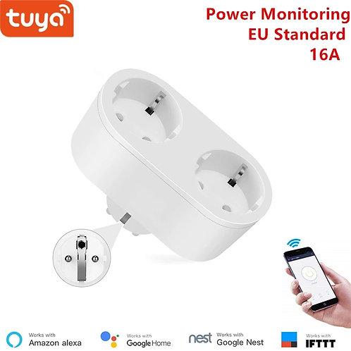2 in 1 WiFi Socket 16A EU standard Power