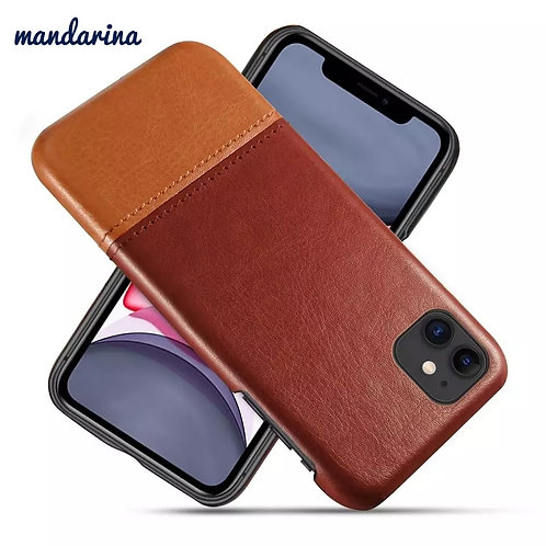 Luxury Stitching PU Leather Slim Apple Phone case for iPhone 11 pro max