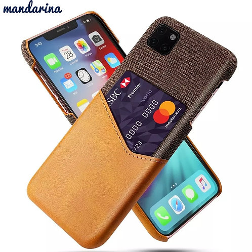 for iPhone 11 Pro 11 Pro Max Case Wallet Slim Leather Splicing Soft Fabric