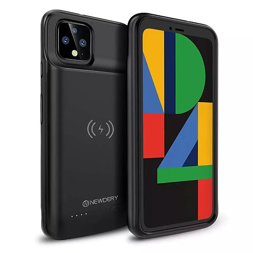 NEWDERY For Google Pixel 4 Battery Case, Qi Wireless Charging Compatible 5000mAh