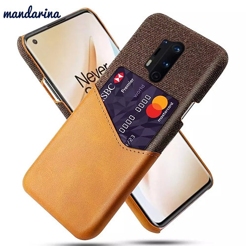 Luxury Febric card Holder Case for One plus