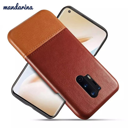 Luxury Stitching PU Leather Slim Phone cases for One plus 5 5T 6 6T 7 7T 8 pro