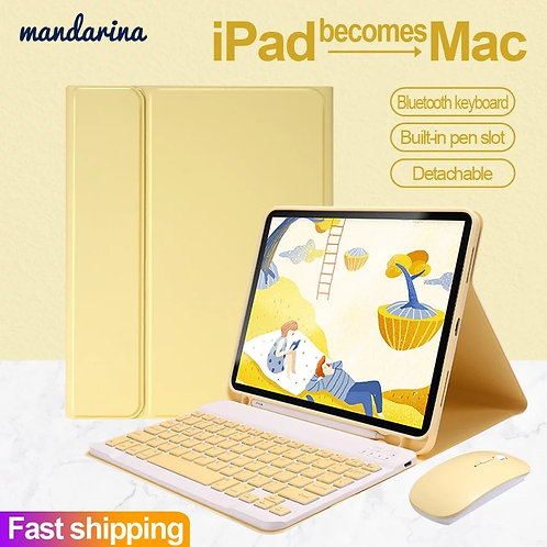 """Pad Bluetooth Keyboard Mouse Case for iPad Air 1 2 3 Pro 9.7 10.5 11"""""""