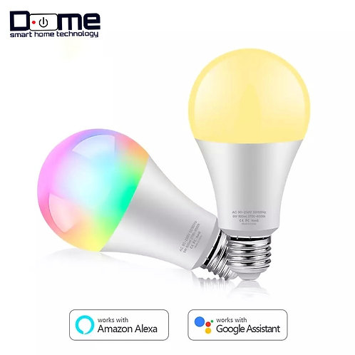 Dome Smart Life LED 9W Lamp Work With Google Home Alexa
