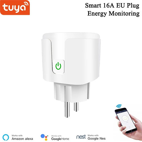16A EU Plug With Energy Monitoring WiFi Socket