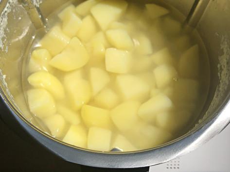 Kartoffeln kochen mit WunderCap im Mixtopf des Thermomix