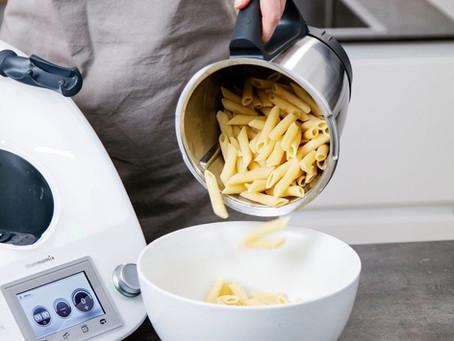 Nudeln kochen mit WunderCap im Mixtopf des Thermomix