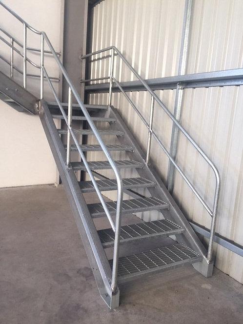 Steel Steps & Balustrade